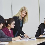 English Language Institute students in class