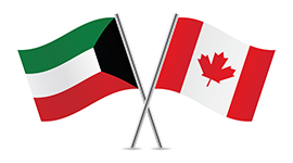 Canadian and Kuwait flags