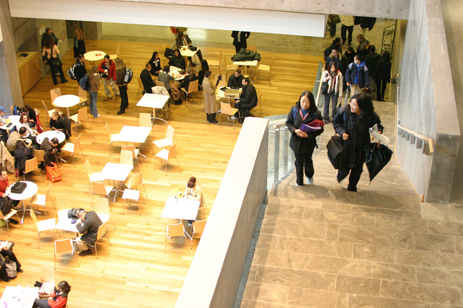 Aerial view of Schulich School of Business atrium