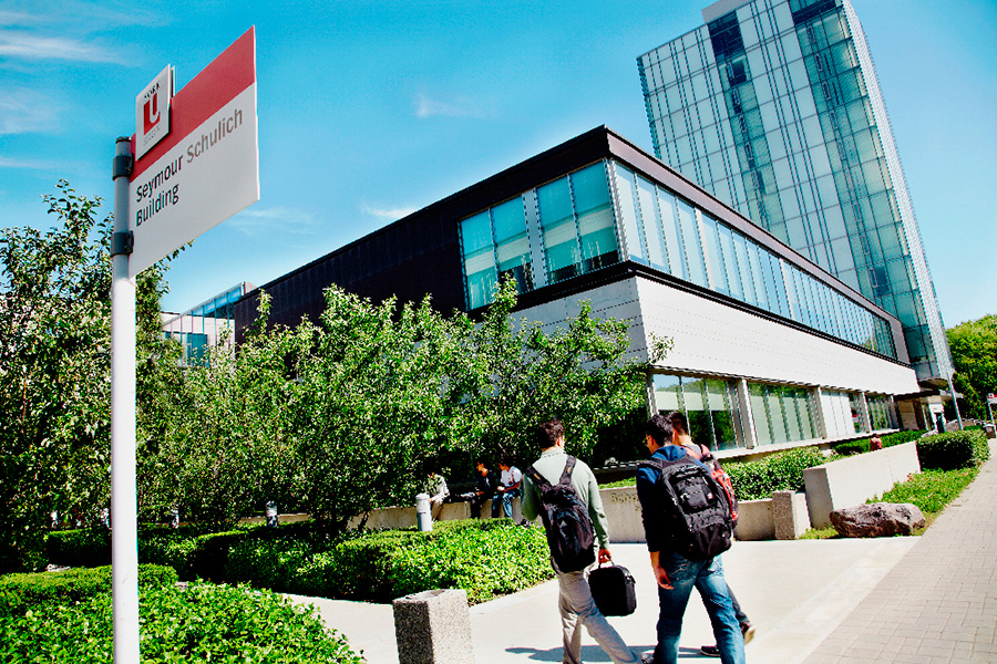 Exterior view of the Seymour Schulich building