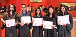 Students Celebrating Certificates cropped