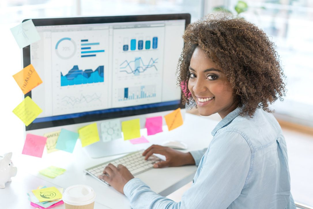 Data Analytics stock photo in star