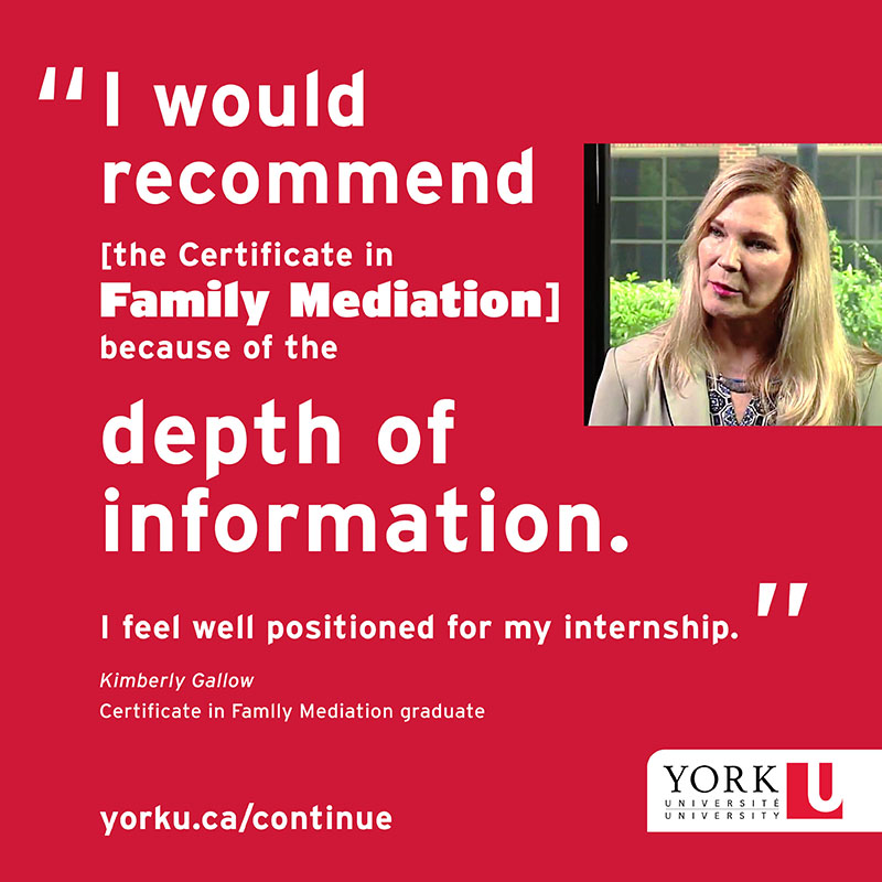 Certificate in Family Mediation | School of Continuing Studies