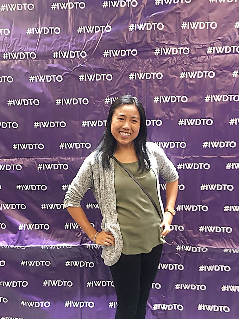 Jen Beltran, Full-Stack Web Development Student, at DevTo's #IWDTO event on March 4th, 2019