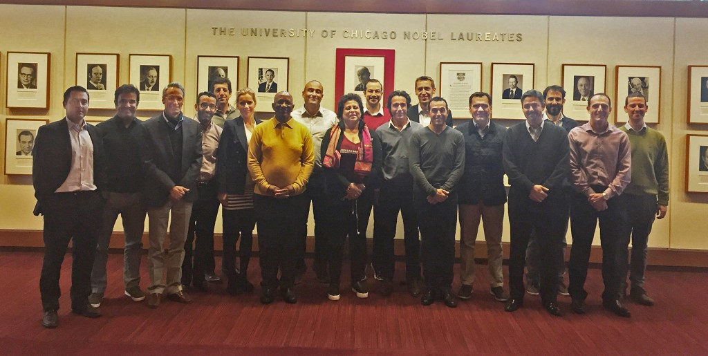 Isaac Garcia-Sitton with fellow Global Senior Management Program students from around the world