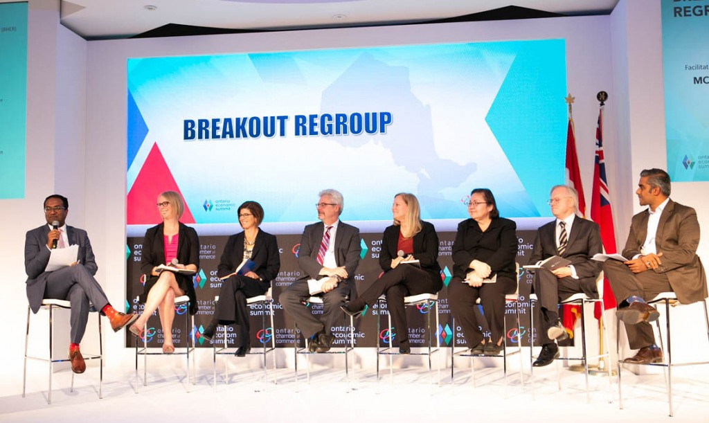 Ontario Economic Summit Panel with Tracey Taylor-O'Reilly AVP, School of Continuing Studies