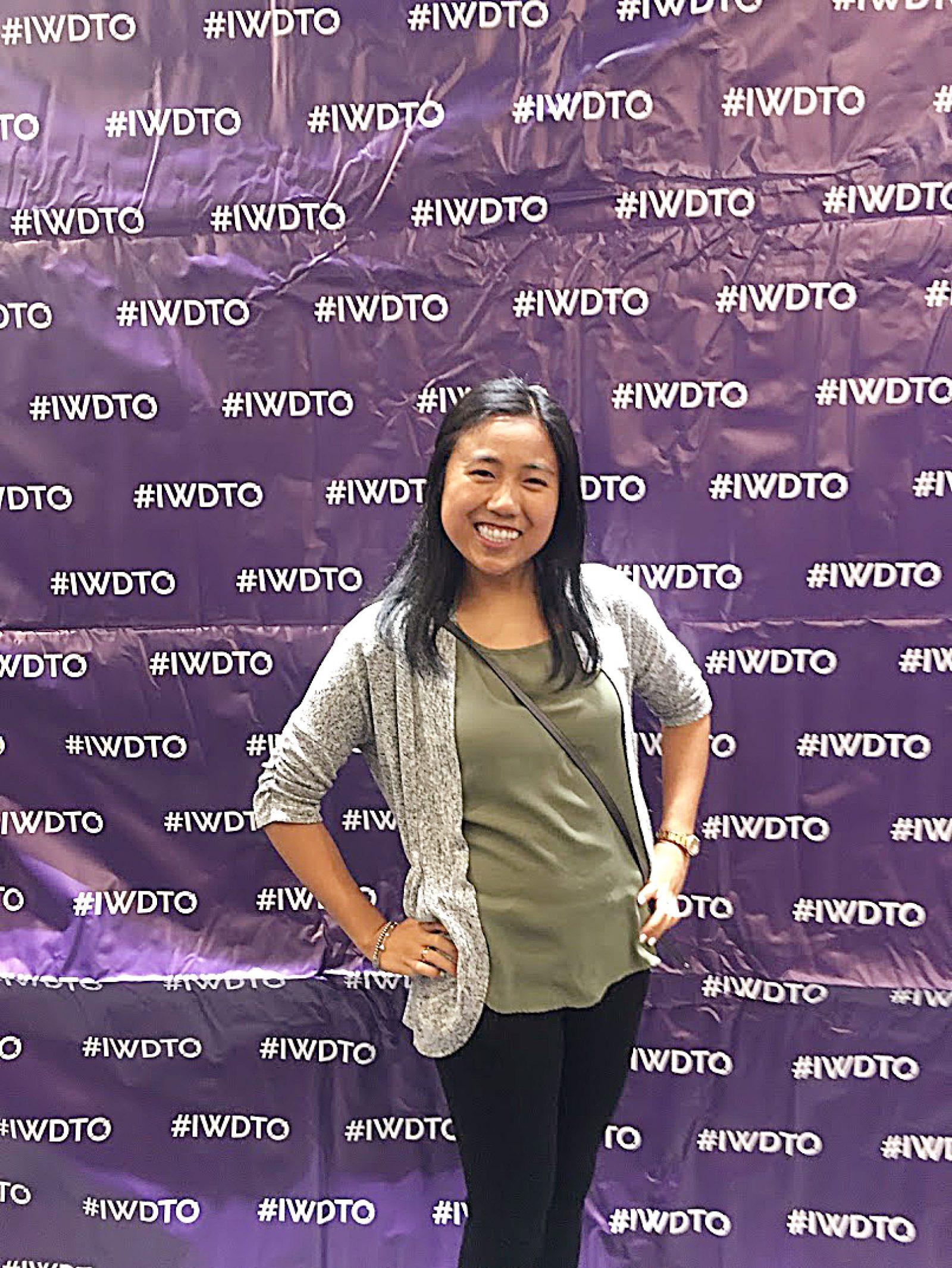 Jen Beltran, Full-Stack Web Development Student, at DevTo's #IWDTO event on March 4th, 2019