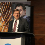 25 June 2018. Toronto Mayor John Tory at the Collision Conference community launch night in Toronto. Photo courtesy of Collision.