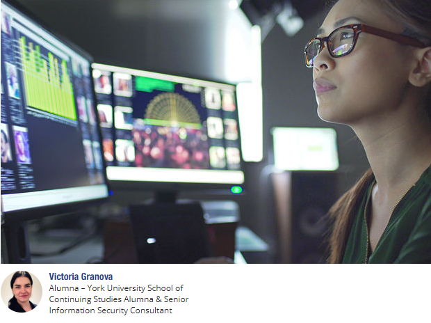 Young woman analyzing data