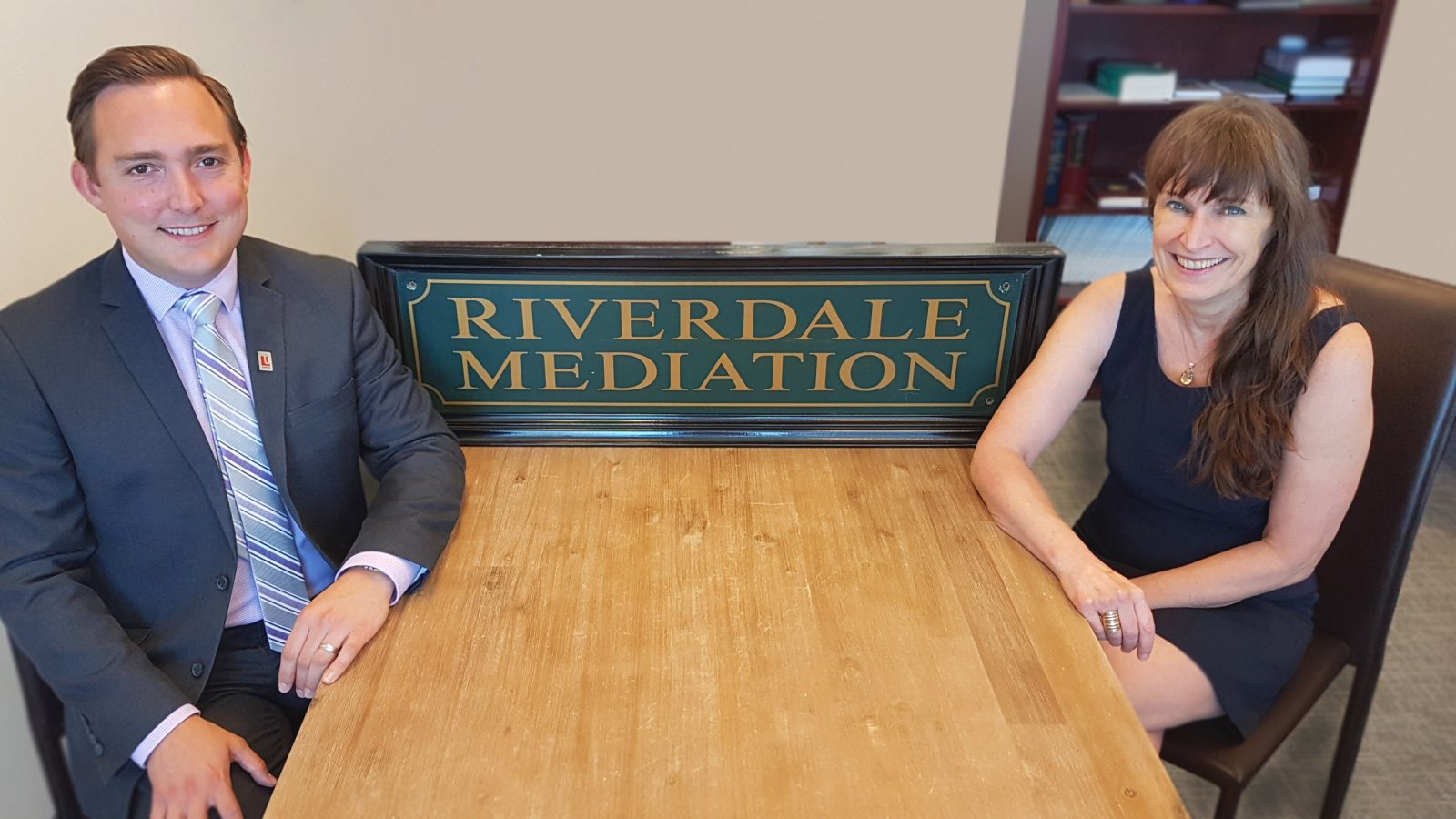 Family Mediation Program Manager Sean Woodhead and Riiverdale Mediation President Hilary Linton