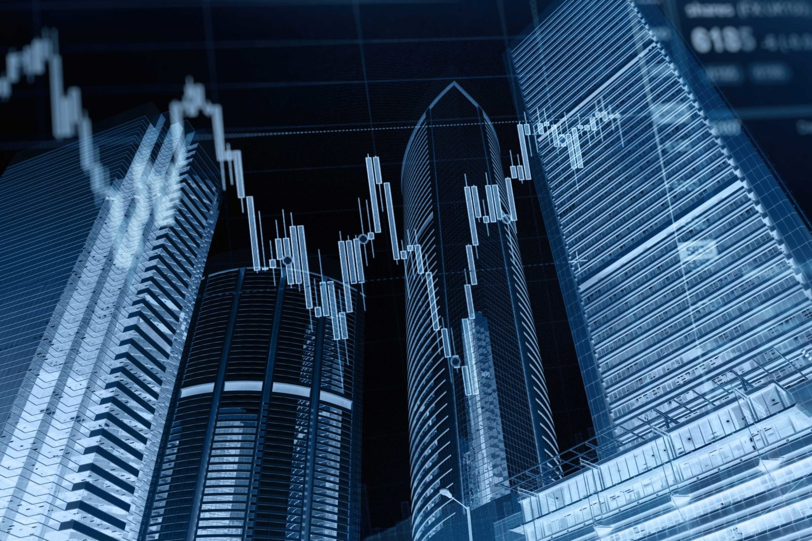 Business graph stock market background