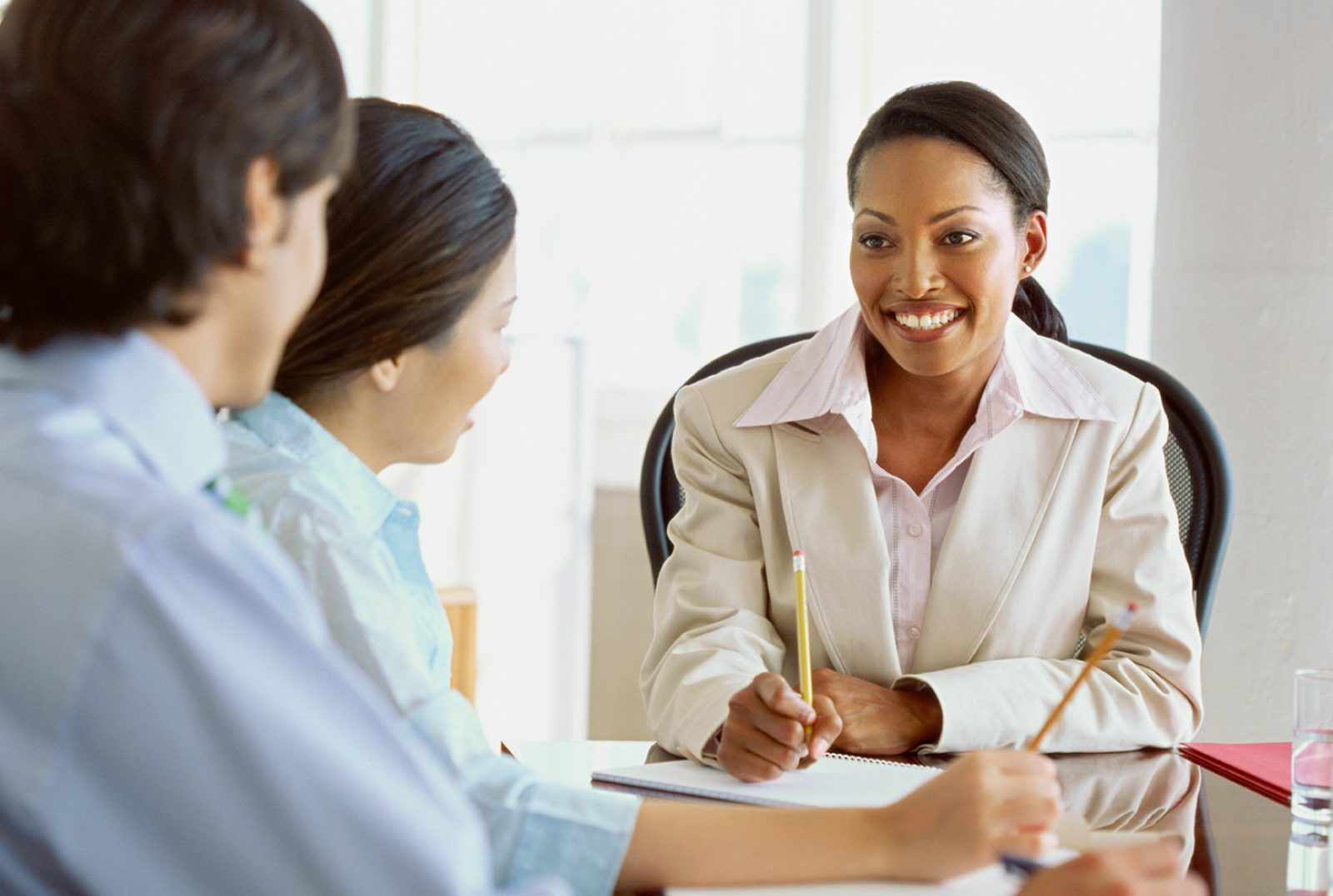A mediator works with two clients.