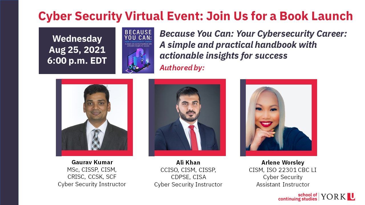 Cyber Security Book Launch Event