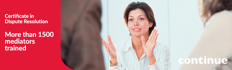 Woman in a mediation process