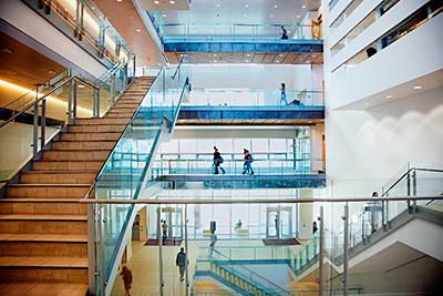 York University - TEL building, The Centre Atrium