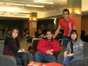 York University English Language Institute students in a conversation partners session