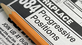 Newspaper - Job search page
