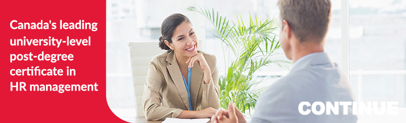 Smiling business woman interviewing a candidate